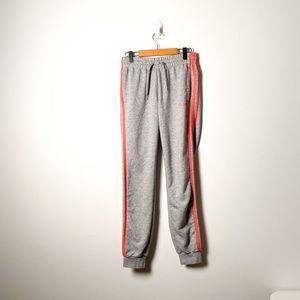 Adidas Pink and Grey Loungewear Sweatpants
